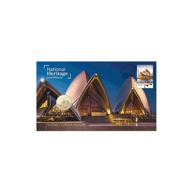 2021 $1 National Heritage Australia - Sydney Opera House Coin & Stamp Cover PNC