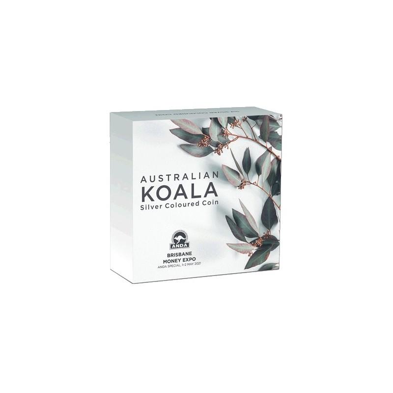 2021 $1 Brisbane Money Expo ANDA Koala 1oz Silver BU