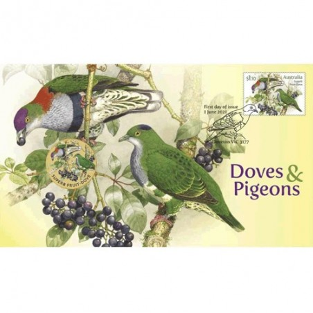 2021 $1 Doves & Pigeons Coin & Stamp Cover PNC
