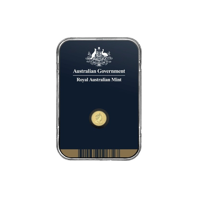 2021 $2 Mini Koala 1/2gm Gold Frosted Uncirculated Coin in Presentation Capsule