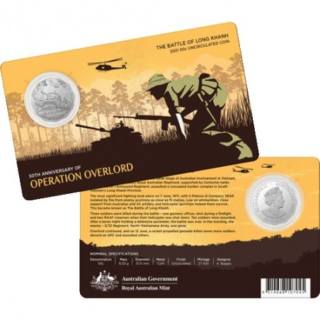 2021 50c 50th Anniversary of the Battle of Long Khanh Uncirculated Coin