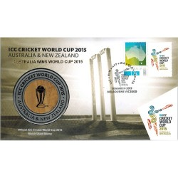2015 ICC Cricket World Cup Limited Edition Medallion Cover PNC