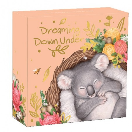 2021 50c Dreaming Down Under - Koala 1/2oz Silver Proof Coloured Coin