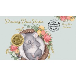 2021 $1 Dreaming Down Under - Koala Coin & Stamp Cover PNC