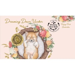 2021 $1 Dreaming Down Under - Dingo Coin & Stamp Cover PNC