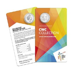 2015 20c ICC World Cup Cricket Uncirculated Coin in Card