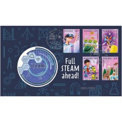 2021 Full Steam Ahead Glow in the Dark Medallion & Stamp Cover PNC