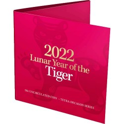 2022 50c Year of the Tiger Tetra  Decagon Uncirculated Coin