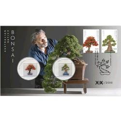 2021 Australia Native Bonsai 2Medallion & Stamp Cover PNC