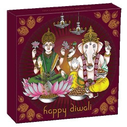 2021 Diwali Festival 1oz Silver Gilded Medallion