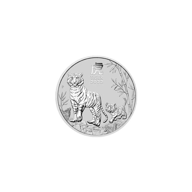 2022 $1 Australian Lunar Year of the Tiger 1oz Silver Bullion Coin in Capsule