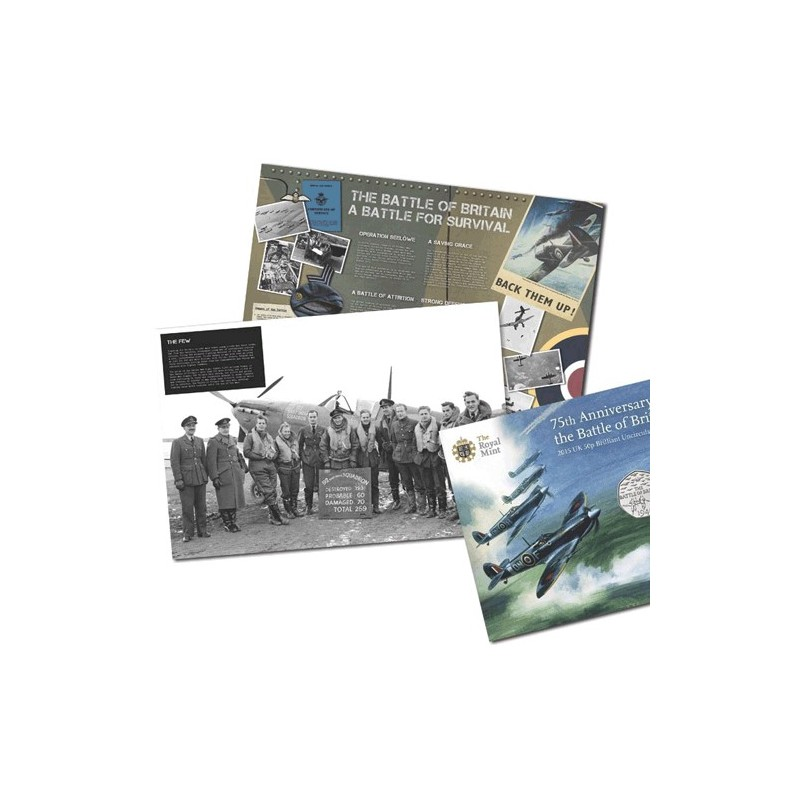 2015 GB 50p 75th Anniversary of the Battle of Britain Unc Coin in Card
