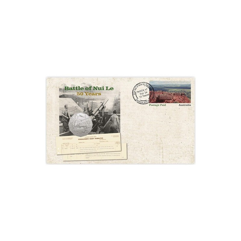 2021 50c 50 Years Battle of Nui Le Coin & Stamp Cover PNC