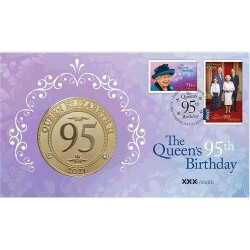 2021 $1 Queen Elizabeth II 95th Birthday Coin & Stamp Cover PNC