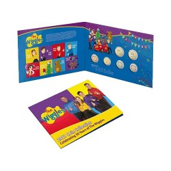 2021 $1 & $2 30 Years of the Wiggles Coloured Al/Br Uncirculated 6 Coin Set
