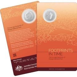 2021 20c Mungo Footprint Cupro Nickel Uncirculated Coin in Card