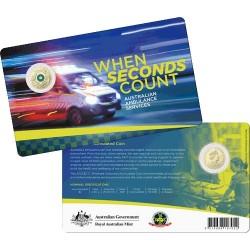 2021 $2 Australian Ambulance Services Al/Br C Mintmark Coloured Uncirculating Coin in RAM Card