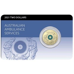 2021 $2 Australian Ambulance Services Al/Br Coloured Uncirculating Coin Pack