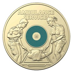 2021 $2 Australian Ambulance Services Al/Br Coloured Circulating Coin Mint Roll