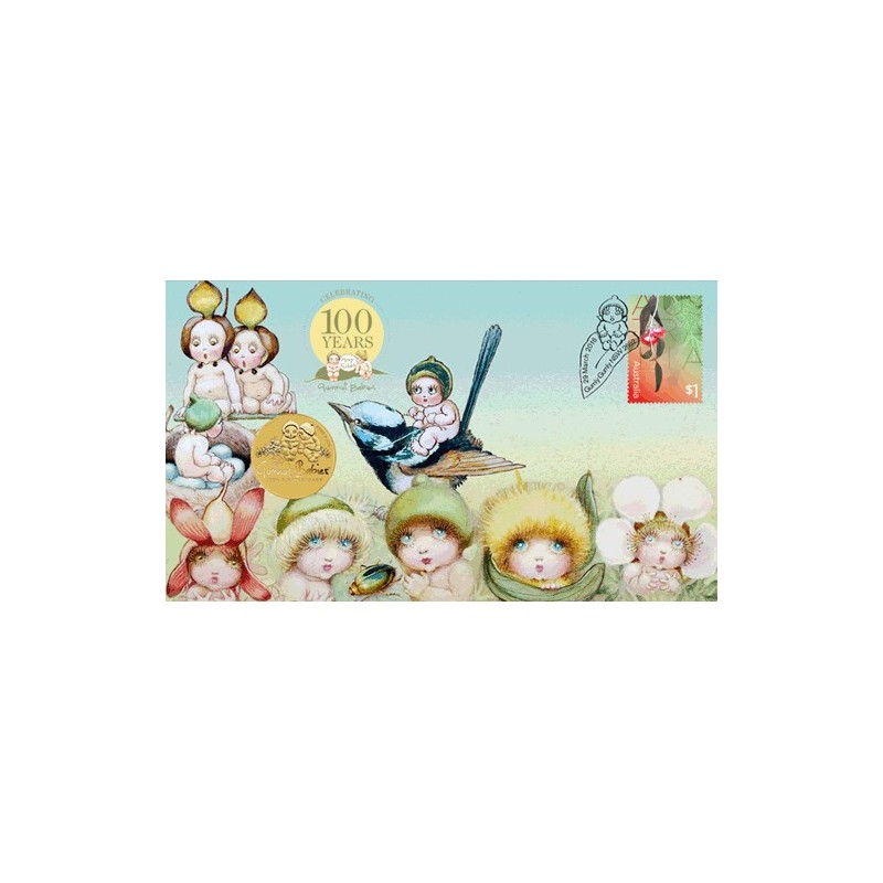 2016 $1 Gumnut Babies Coin & Stamp Cover PNC