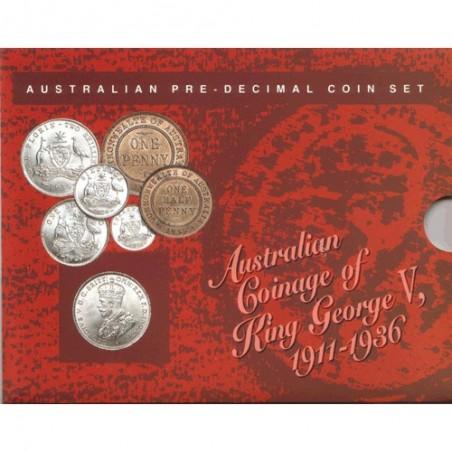 Australian Pre-Decimal Coin Set 1911 - 1936 King George V