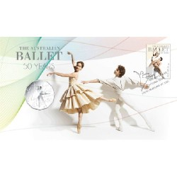 2012 50c 50th Anniversary of the Australian Ballet Coin & Stamp Cover PNC