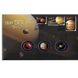2015 Solar System Limited Edition 3 Medallion & Stamp Cover PNC