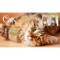 2015 $1 Australian Cats Coin & Stamp Cover PNC
