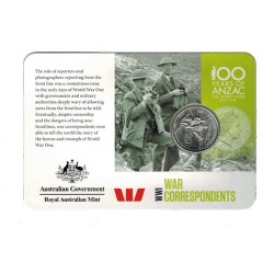 2015 20c ANZAC Centenary War Correspondence Legacy/Newscorp Issue Unc Coin in Card