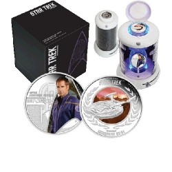 2015 $1 Star Trek - Enterprise - Captain Jonathan Archer & Enterprise NX-01 1oz Silver Two-Coin Proof Set