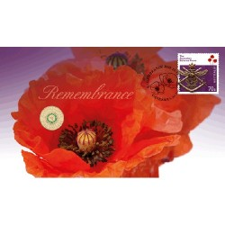 2014 $2 Remembrance Day Coin & Stamp Cover PNC