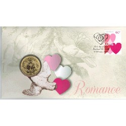 2014 $1 Romance Coin & Stamp Cover PNC