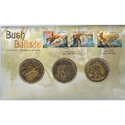 2014 Bush Ballads 3 Medallion & Stamp Cover PNC