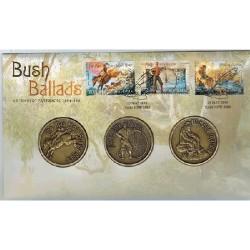 2014 Bush Ballads 3 Medallion & Stamp Cover PNC