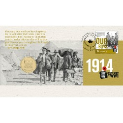 2014 $1 Centenary of WWI - Our Boys Coin & Stamp Cover PNC