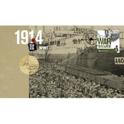 2014 $1 ANZAC Declaration of WWI Coin & Stamp Cover PNC