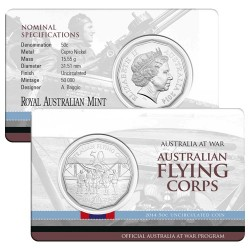 2016 50c Australia At War Series - Indonesian Confrontation Uncirculated Coin in Card