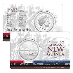 2014 50c Australia at War Series - German New Guinea Unc Coin in Card