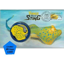 2014 Things That Sting - Stingray Medallion & Stamp Cover PNC