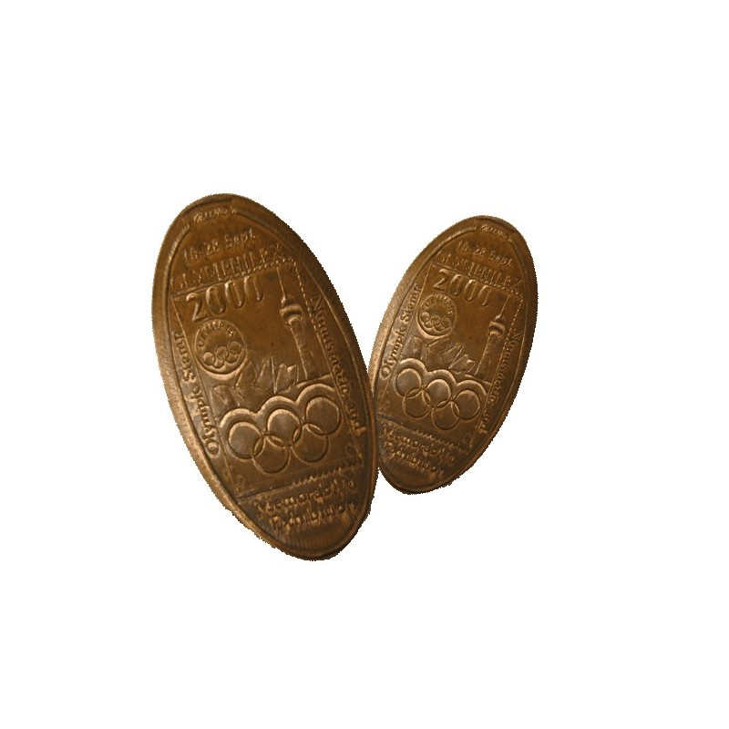 2000 Olymphilex Rolled Half Penny & Penny Set of 2 Coins
