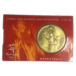 2000 $5 Sydney Olympic Games Basketball Unc Coin in Card