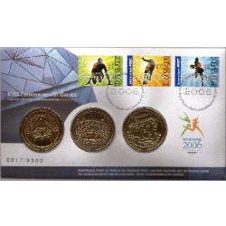 2006 Commowealth Games 3 Medallion Limited Edition Cover & Stamp PNC