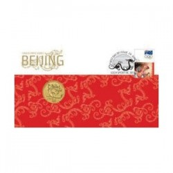 2008 $1 Beijing Coin & Stamp Cover PNC