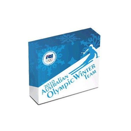 2010 $1 Australian Winter Olympic Team 1oz Silver Proof Coin