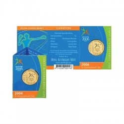2006 $1 Commonwealth Games M Mintark Uncirculated Coin in Card
