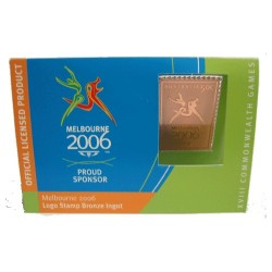 2006 Commonwealth Games Logo Stamp Bronze Ingot