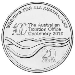 2010 20c Centenary of The Australian Taxation Office Uncirculated Coin