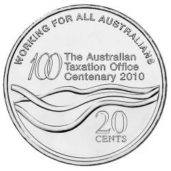 2010 20c Centenary of The Australian Taxation Office Uncirculated Coin