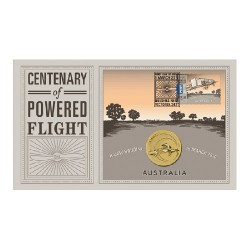 2010 $1 Centenary of Powered Flight Coin & Stamp Cover PNC