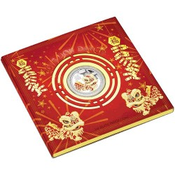 2015 $1 Chinese Lion Dance 1oz Silver Proof Coin